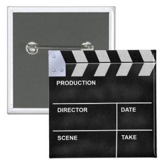 clapperboard cinema 2 inch square button