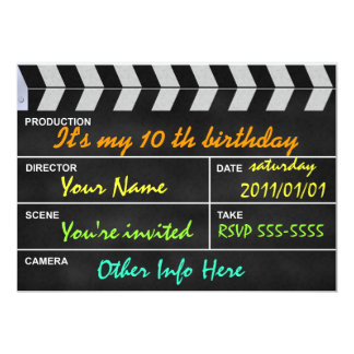 clapperboard cinema card