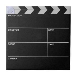 clapperboard cinema ceramic tile