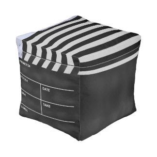 Clapperboard cinema cube pouf