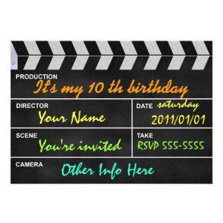 clapperboard cinema invitations