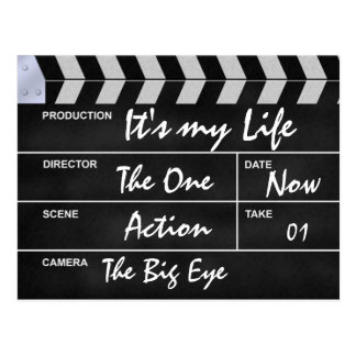"clapperboard cinema ""It's my Life"" Postcard"