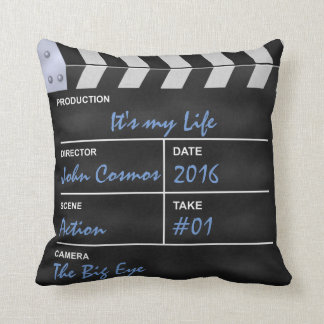 "Clapperboard cinema ""It's my Life"" Throw Pillow"