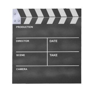 Clapperboard cinema memo notepads