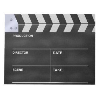 Clapperboard cinema memo pad