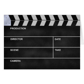 clapperboard cinema note card