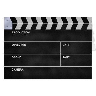 clapperboard cinema note card