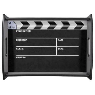 clapperboard cinema food tray