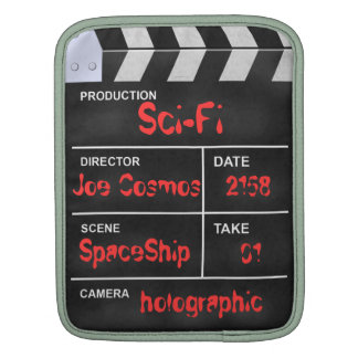 "clapperboard cinema ""Sci-Fi"" iPad Sleeves"