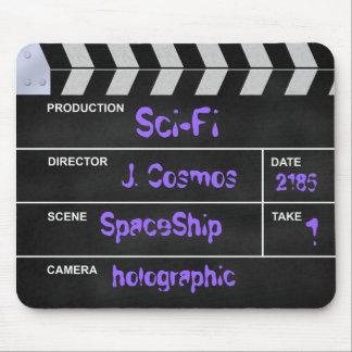 """clapperboard cinema """"Sci-Fi"""" Mouse Pad"""