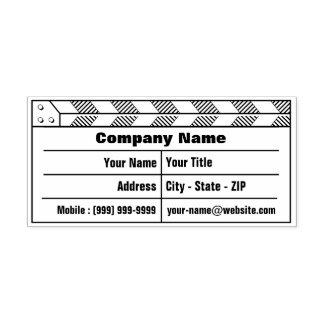 Clapperboard Cinema Self-inking Stamp