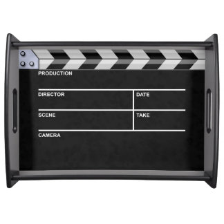 clapperboard cinema serving tray