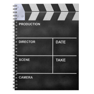Clapperboard cinema spiral notebooks