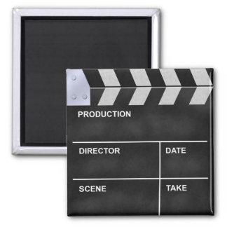 clapperboard cinema square magnet