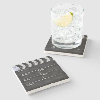 Clapperboard cinema stone beverage coaster