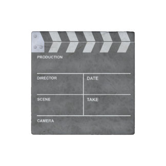 Clapperboard cinema stone magnets