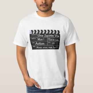 """clapperboard cinema """"Une Sacrée Vie"""" T Shirts"""