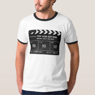 CLAPPERBOARD CLASSIC 2-tone T-shirt with your text