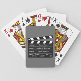 Clapperboard for your Playing Cards Scenes