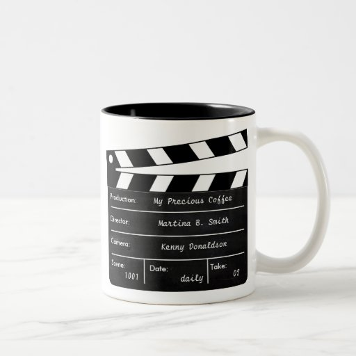 Clapperboard Mug for your Coffee Scenes