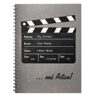 Clapperboard with Your Text! Notebooks