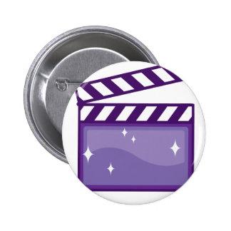 ClapperMovieVector pdf Pinback Button