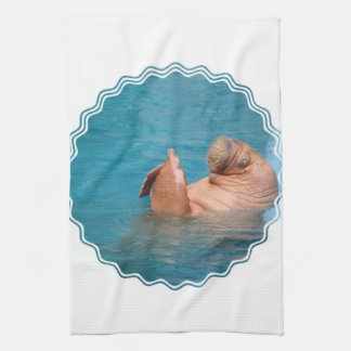 Clapping Walrus Kitchen Towel