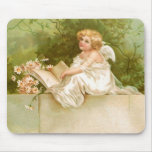 Clapsaddle: Angel with Book and Flowers Mouse Pad