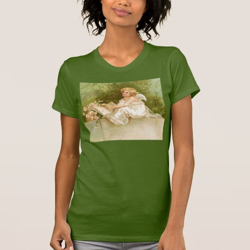 Clapsaddle: Angel with Book and Flowers T-shirt