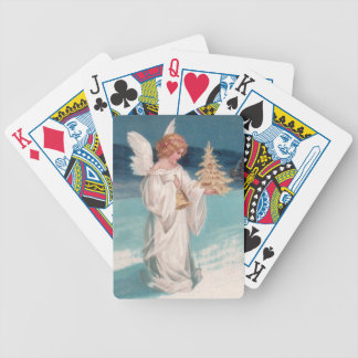 Clapsaddle: Christmas Angel with Bell Poker Deck
