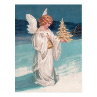 Clapsaddle: Christmas Angel with Bell Postcards