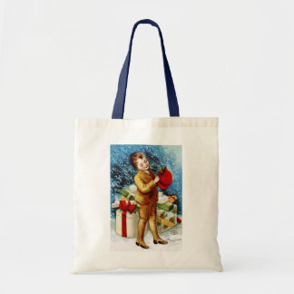 Clapsaddle Christmas Shopping Canvas Bags