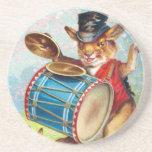 Clapsaddle: Drumming Rabbit Beverage Coasters