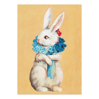 Clapsaddle: Easter Bunny Girl with Ruff Large Business Card