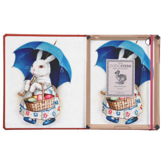 Clapsaddle: Easter Bunny Girl with Umbrella Cover For iPad