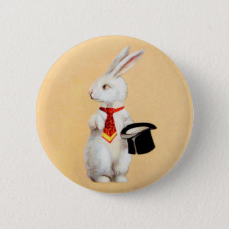 Clapsaddle: Easter Bunny with Tie 2 Inch Round Button