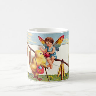 Clapsaddle: Easter Fairy with Chicken Coffee Mug