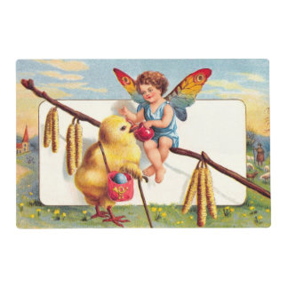 Clapsaddle: Easter Fairy with Chicken Laminated Placemat