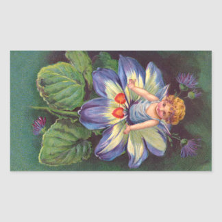 Clapsaddle: Flower Cherub Aster