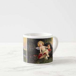 Clapsaddle: Little Cherub on Mushroom Espresso Cup