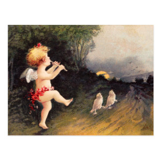 Clapsaddle: Little Cherub with Flute Postcard