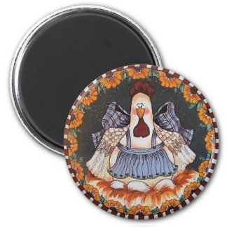 Clara Cluckleworth Chickens Magnet