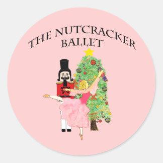 clara_nutcracker xmas classic round sticker
