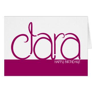 Clara plum Birthday Card