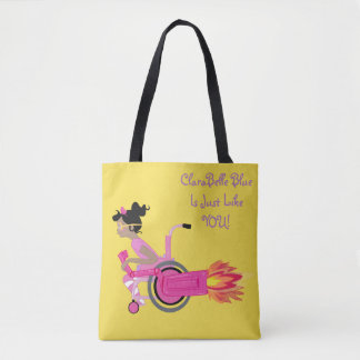 ClaraBelle Blue Perfect Tote - Sunshine Yellow