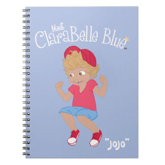 "ClaraBelle Blue Spiral Notebook - ""JoJo"" (Blue)"