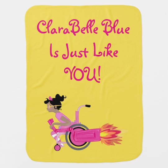 "ClaraBelle ""RocketChair"" Baby Blanket (Yellow)"