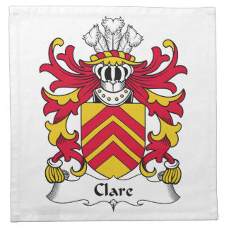 Clare Family Crest Napkin