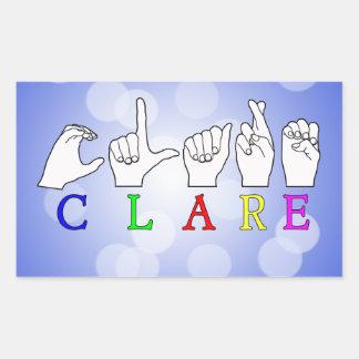 CLARE NAME SIGN ASL FINGERSPELLED STICKER
