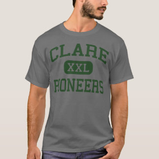 Clare - Pioneers - High School - Clare Michigan T-Shirt
